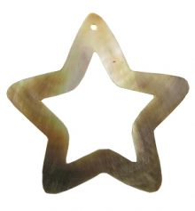 Blacklip star design wholesale pendant