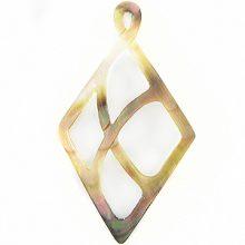 blacklip shell carved diamond wholesale