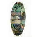 Paua green block oval 44mm wholesale
