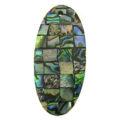 Paua black block oval 44mm wholesale