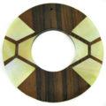 wood donut tiger ebony w/ MOP inlay wholesale