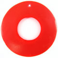 Capiz 46mm donut neon red wholesale