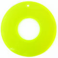 Capiz 46mm donut neon yellow wholesale