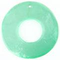 Capiz 46mm donut light green