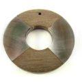 Blacklip/graywood donut wholesale pendant