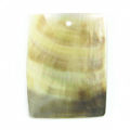 Blacklip plain rectangular wholesale pendant
