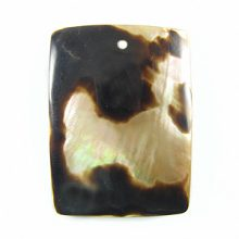 Brownlip rectangular moon wholesale pendant