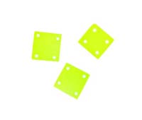 Hammershell square dyed yellow green