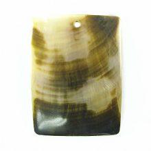 Blacklip rectangular moon wholesale pendant