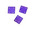Hammershell square 10x10mm purple wholesale