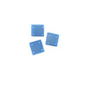 square hammershell 10x10 silver blue wholesale