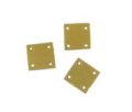 Hammershell square 10mm painted gold
