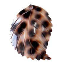 tiger cowrie leaf design wholesale pendant