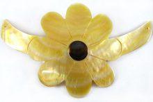 MOP sunflower pendant in bow choker wholesale pendant