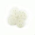 Makabibi shell carved flower w/ 4-petal wholesale pendant