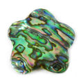 Paua shell flower 30mm wholesale pendant