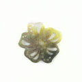 Blacklip shell carved flower pendant 30mm