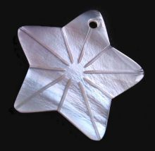 Hammershell star design wholesale pendant