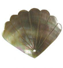 Blacklip fan design shell pendant wholesale