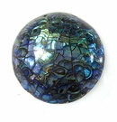 Paua shell dome inlaid cracked