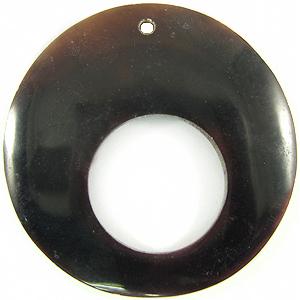 Tab shell round large hole wholesale pendant