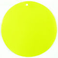 Capiz shell neon yellow 46mm wholesale pendant