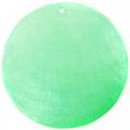 Capiz shell dyed light green 46mm