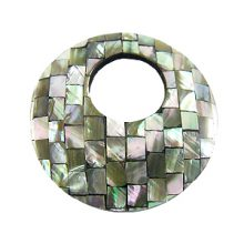 Abalone blocking round with 21mm top hole
