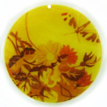 River shell decal print 40mm flower