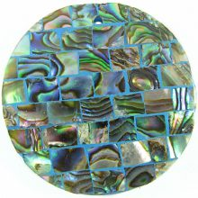 Paua shell blue blocking 40mm