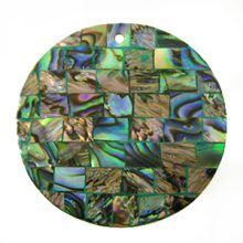 Paua shell green blocking 40mm