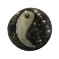 40mm round blacklip embossed wholesale pendant