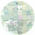 Abalone blue blocking 40mm wholesale pendant