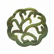 Blacklip round carved 35mm wholesale pendant