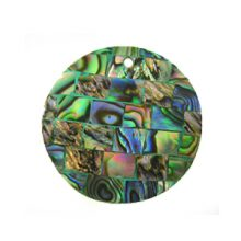 Paua green blocking 30mm wholesale pendant
