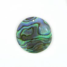 Paua round 25mm wholesale pendant