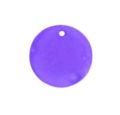 hammer shell 25mm round purple wholesale pendant