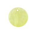 Hammershell 25mm round dyed light yellow