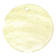 Capiz shell 25mm dyed Light Yellow