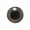 blackpen, carved round 25mm wholesale pendant