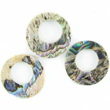 Paua round 16mm with center hole