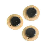 Brownlip center dot. 15mm-2 holes wholesale pendant
