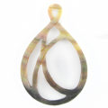 blacklip shell carved teardrop pendant wholesale pendant