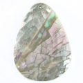 Abalone cracking teardrop wholesale pendant