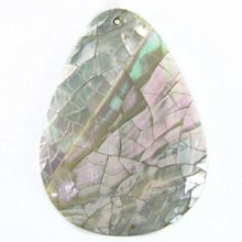 Abalone shell cracking teardrop