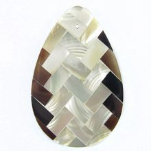 troca / tab teardrop 39mm weave design wholesale pendant