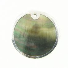 blacklip 30mm round in silver wholesale pendants