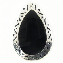 tab teardrop 30x45 carved silver wholesale pendants