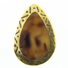 blackpen teardrop 30x45mm carve wholesale pendants