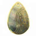 blacklip teardrop 30mm gold yingyang wholesale pendants